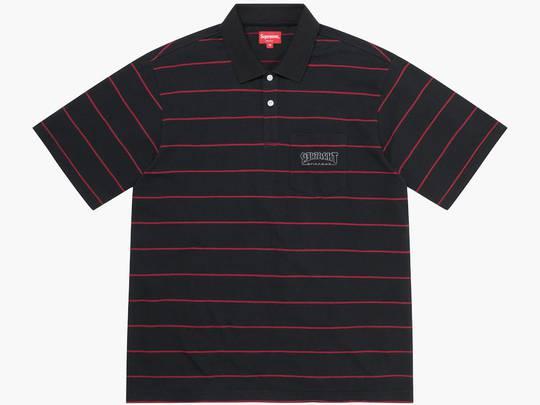 Supreme / Thrasher Stripe Polo Black Hype Clothinga