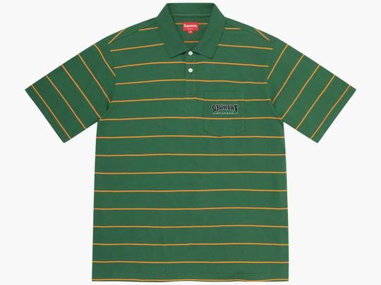 Supreme / Thrasher Stripe Polo Green Hype Clothinga