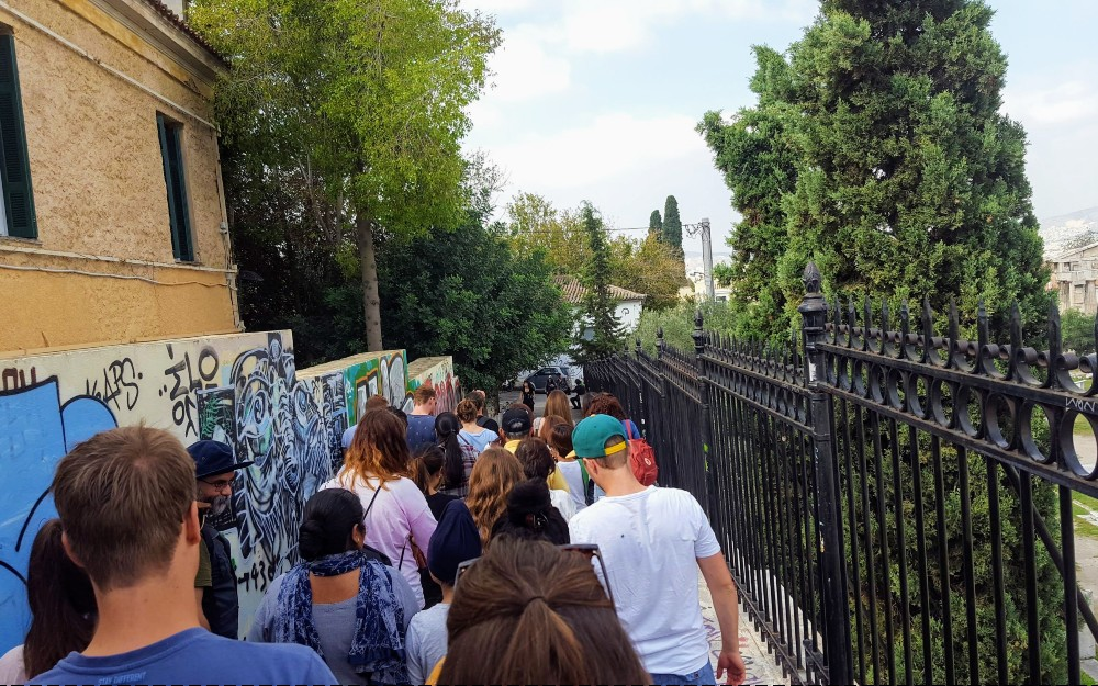 A walking tour through the streets of Athens.