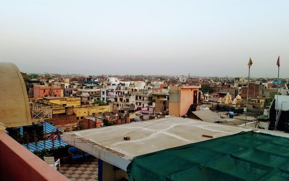 The Delhi skyline: an urban jungle as far as the eye can see.