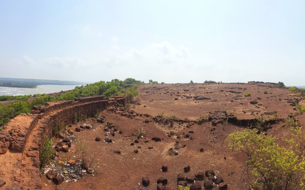 Even at historic sites, like this fort in Goa, you'll find discarded trash everywhere.