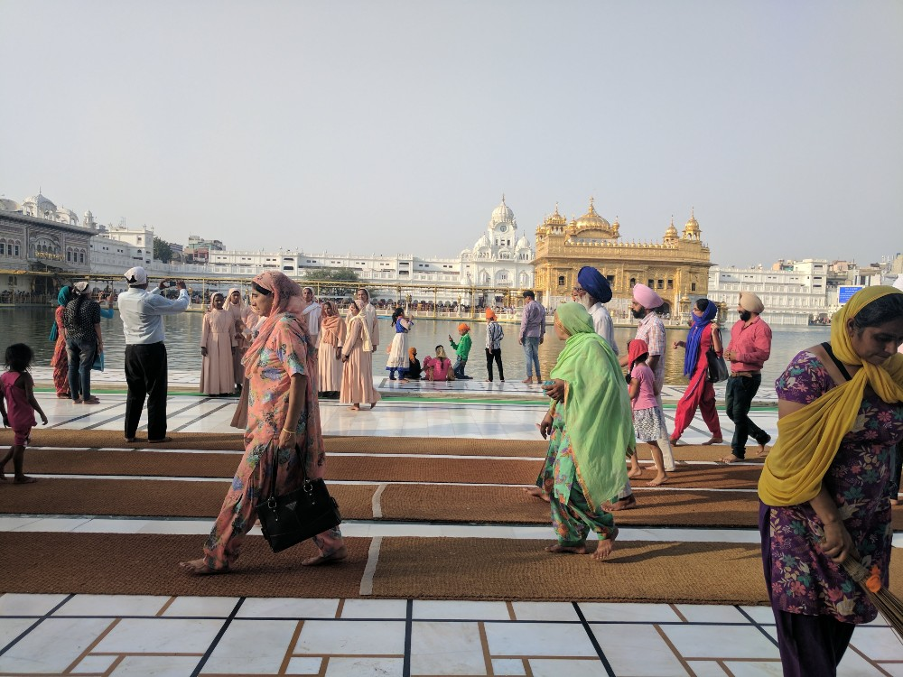 The Golden Temple in Amritsar is a busy place.
