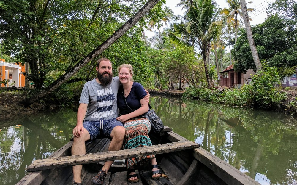 A boat ride through the backwater jungles of Kerala.