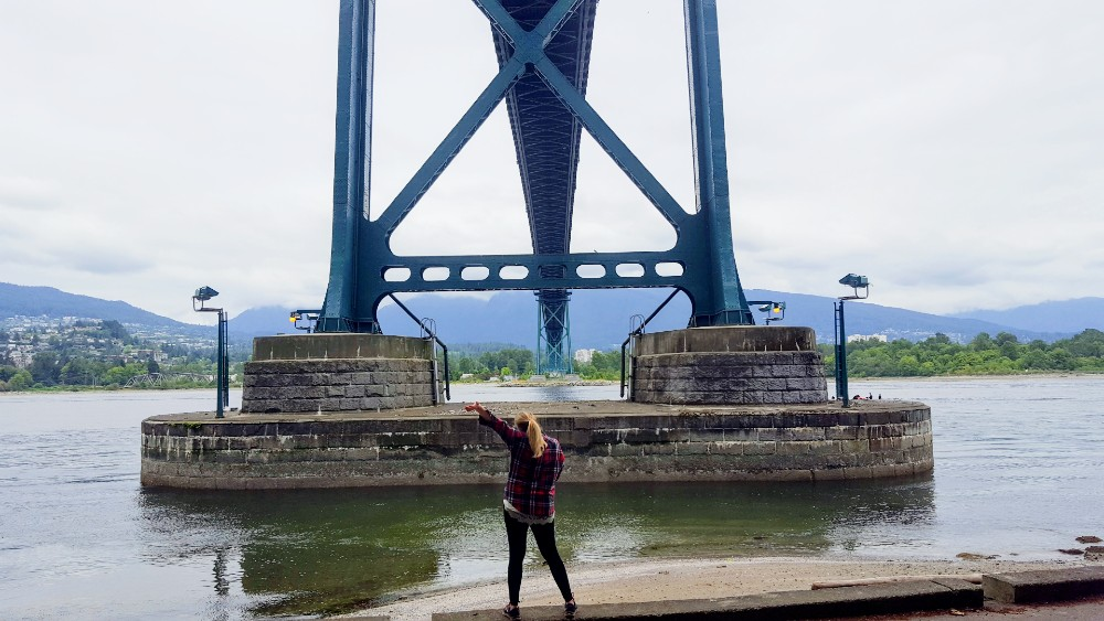 Walking the seawall in Vancouver's Stanley Park.