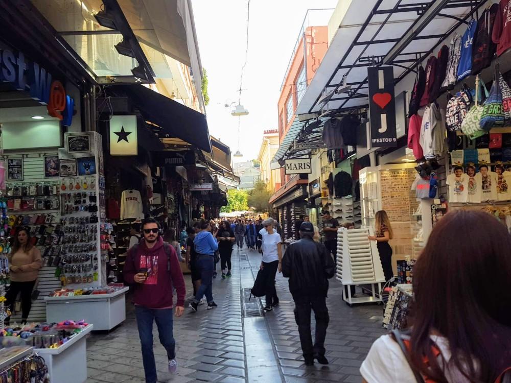 Walking through the flea markets.