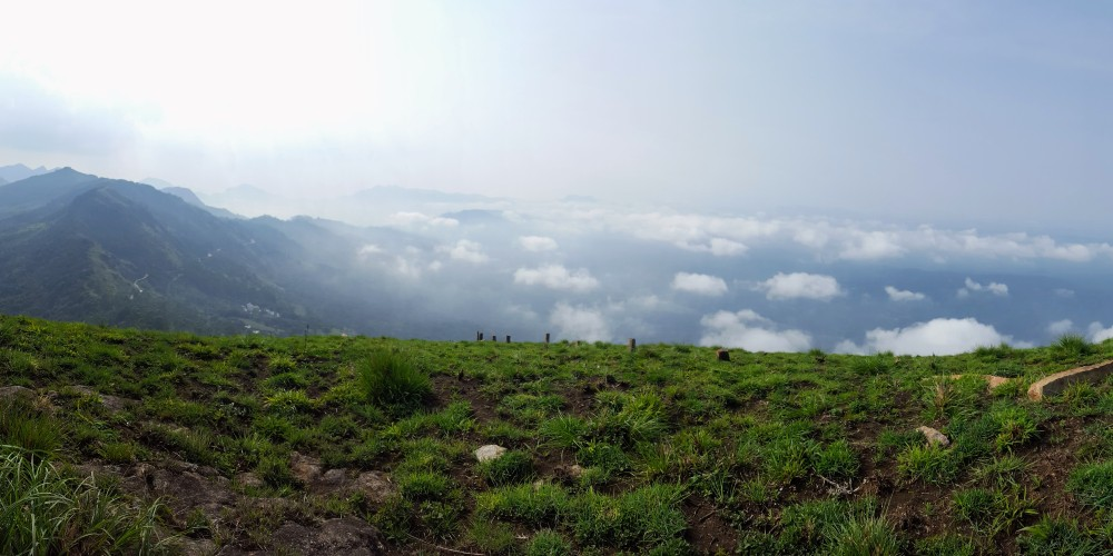 Epic view from a mountain in Munnar.