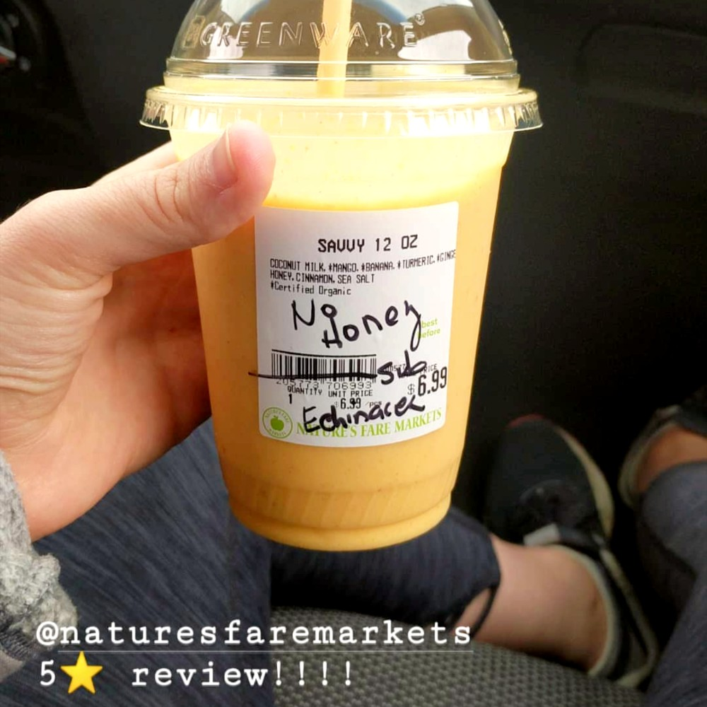 Nature's Fare has an amazing smoothie selection. Via @JaniceGreeen on Instagram.