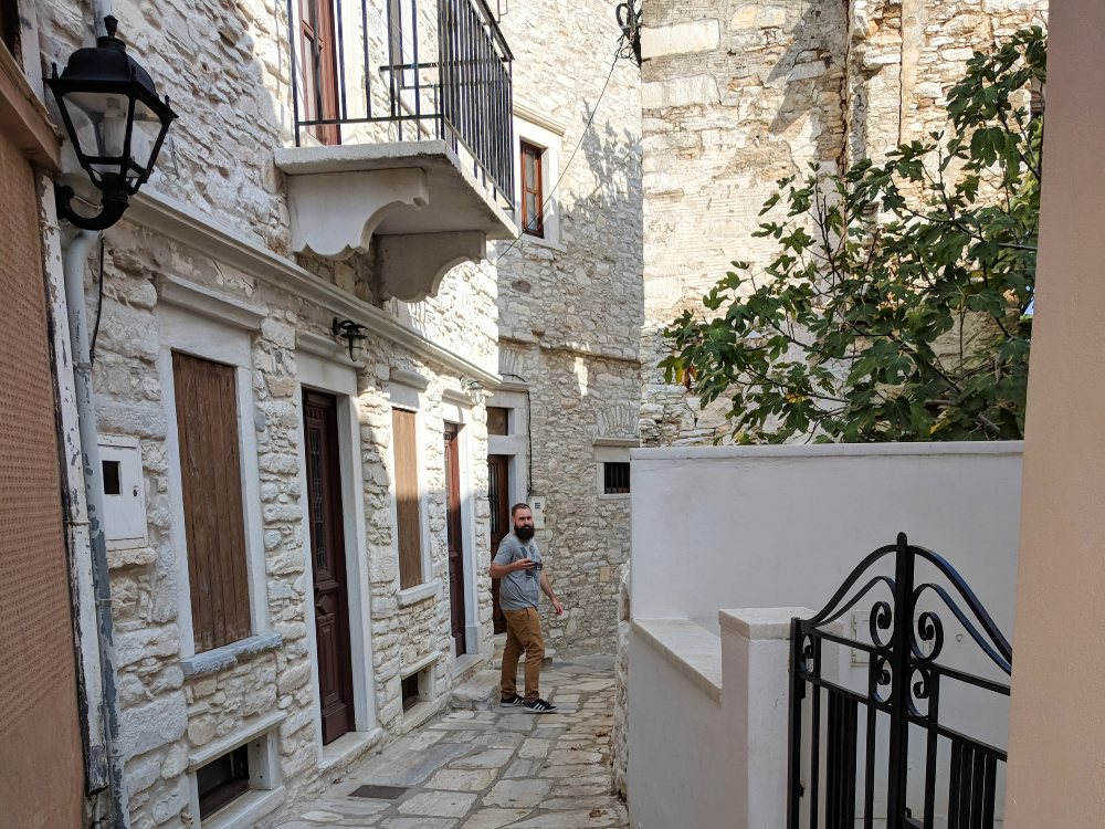 Exploring some ancient streets on Naxos.