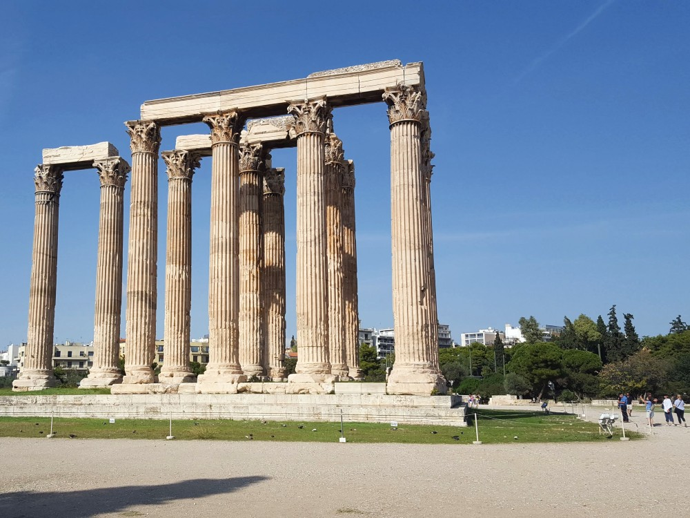 The few remaining pillars from the original Temple of Olympian Zeus.