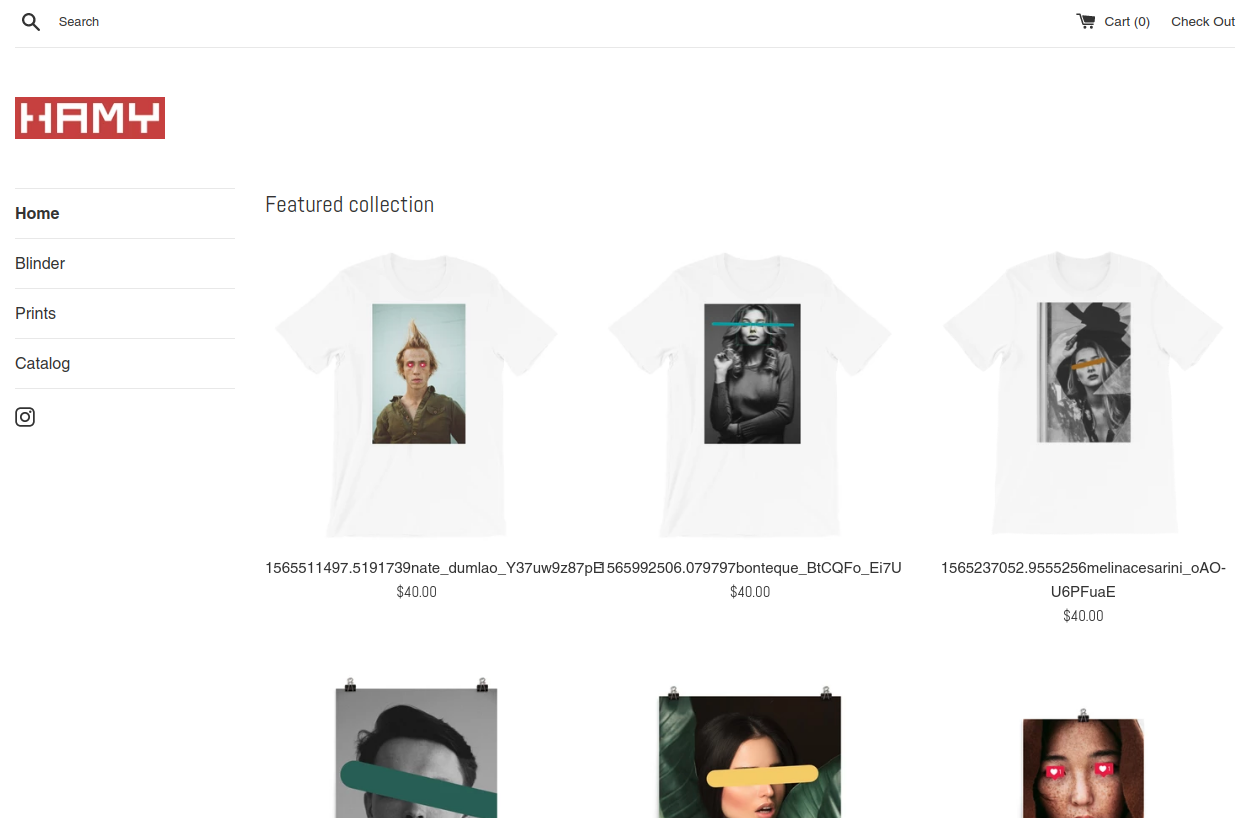 HAMY.BRAND online store screenshot