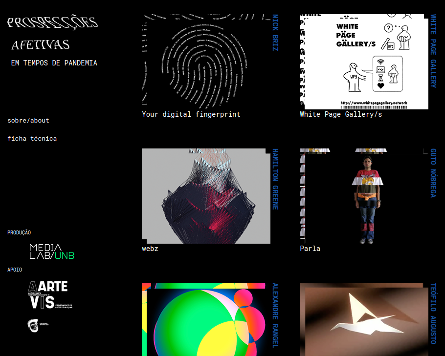 case: webz featured in Prospeccoes Afetivas em Tempos de Pandemia @ MediaLab UnB cover image
