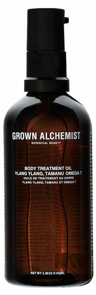 Grown Alchemist Body Treatment Oil - Ylang Ylang, Tamanu & Omega 7 Oils - Natural Moisturizing Body Oil, Clean Skincare (100ml / 3.38oz)