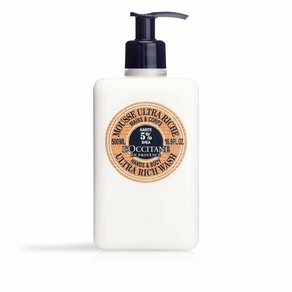 L'Occitane Shea Hands & Body Ultra Rich Wash Enriched with 5% Shea Butter, 16.9 fl. oz.
