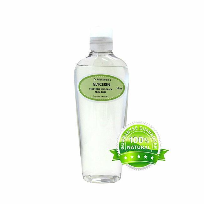 Premium Glycerine/Glycerin Vegetable Usp Grade 100% Pure by Dr.Adorable 10 Oz