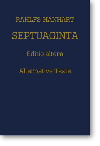Septuaginta – Alternative Texte