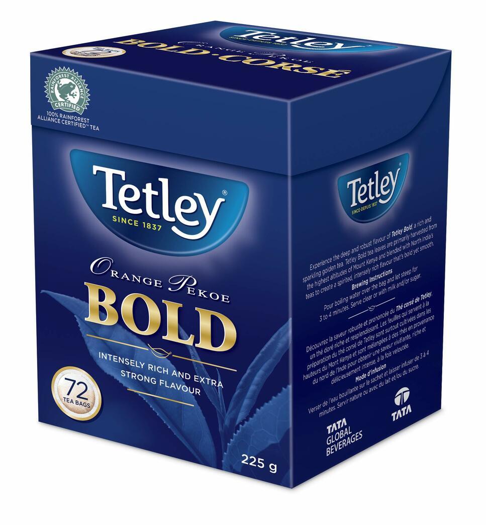 Tetley Bold Orange Pekoe Tea - 72ct/225g