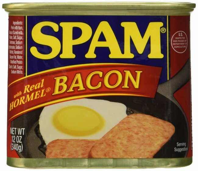 Spam Canned and Packaged Meats WITH BACON, 12 Ounce