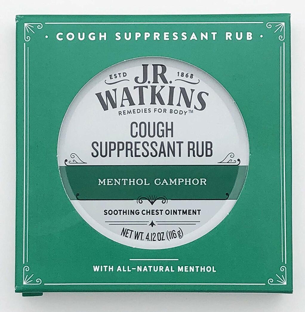 J.R. Watkins Menthol Camphor Cough Suppressant Rub 4.12 Ounces