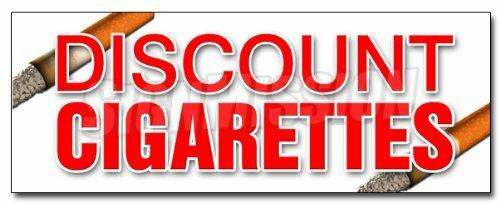 "SignMission, 12"", Discount Cigarettes"