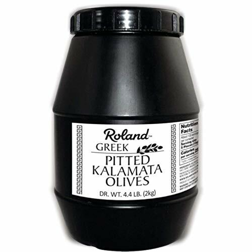 Roland Foods Whole Pitted Kalamata Olives from Greece, Specialty Imported Food, 4.4 Lbs
