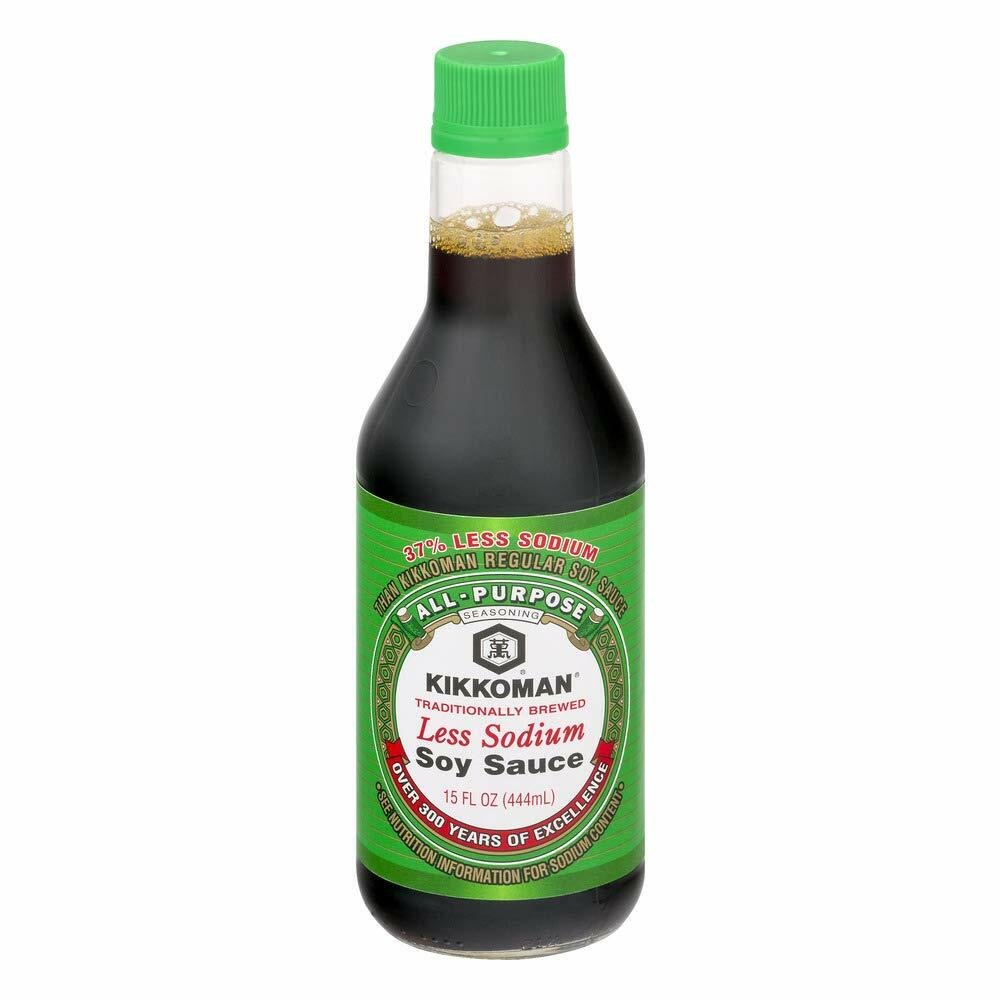 Kikkoman Naturally Brewed Less Sodium Soy Sauce 15 oz