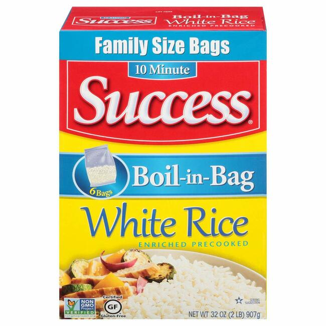 Success Boil-In-Bag White 6 Ct Rice, 32 Ounce