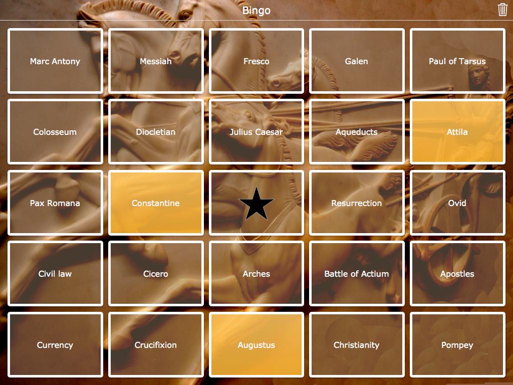 roman empire bingo widget