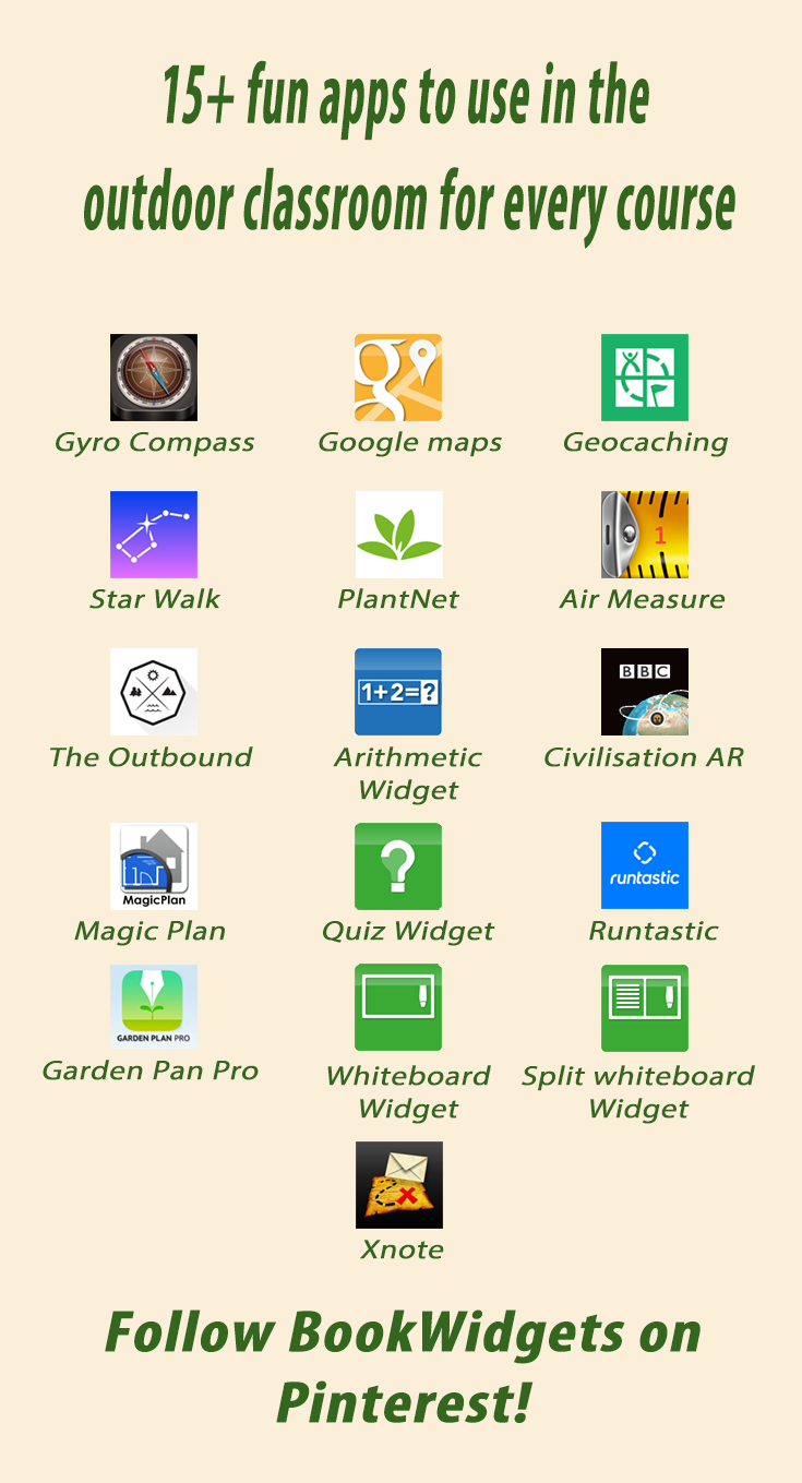 15+ fun apps to use in the outdoor classroom for all courses