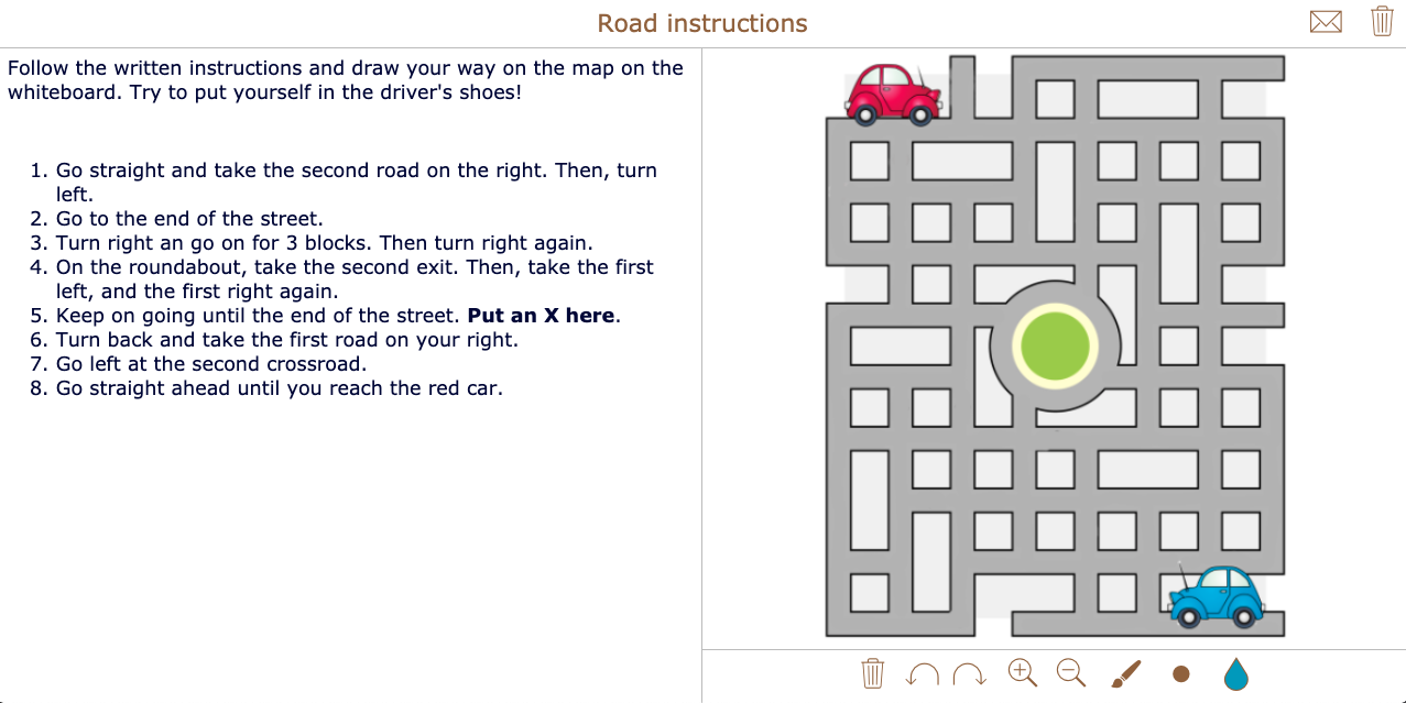 Road instructions