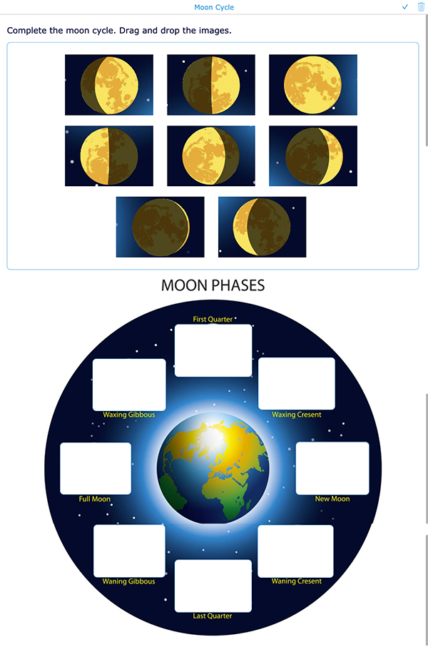 Moon cycle - primary school lesson