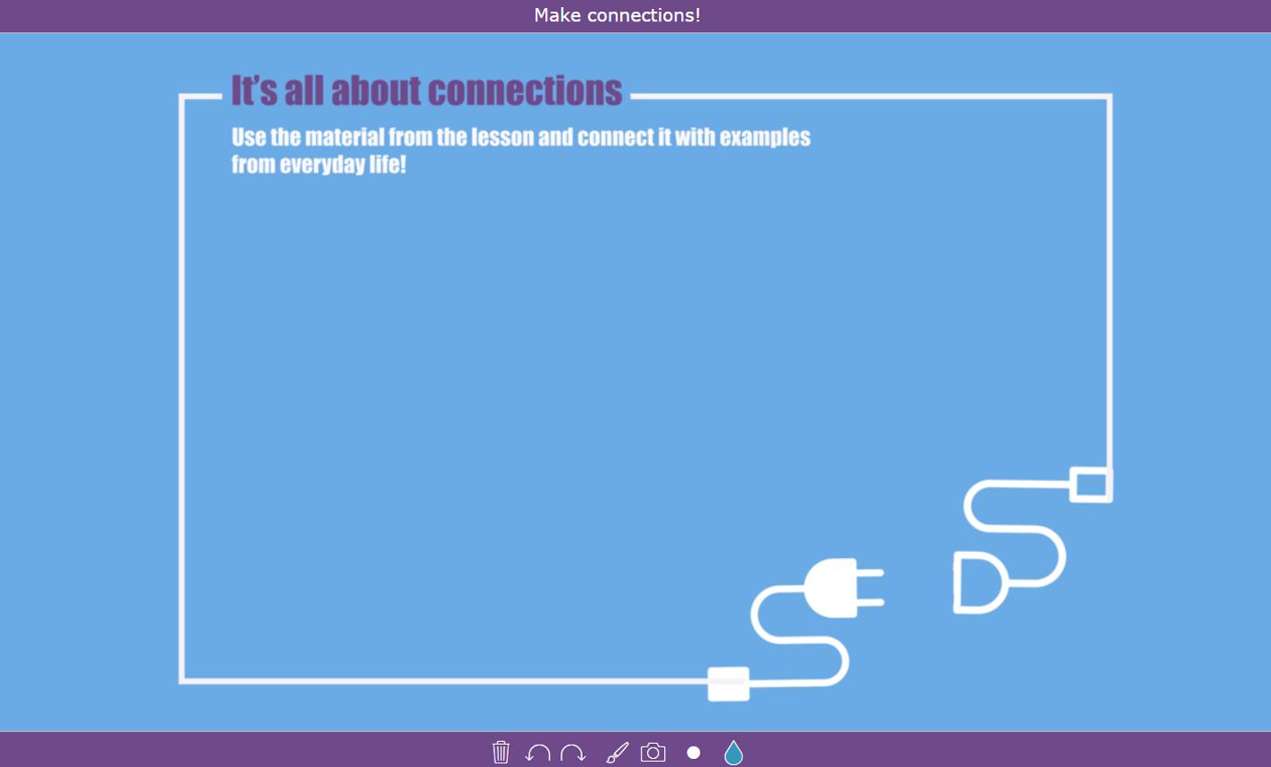 digital exit ticket - Make connection