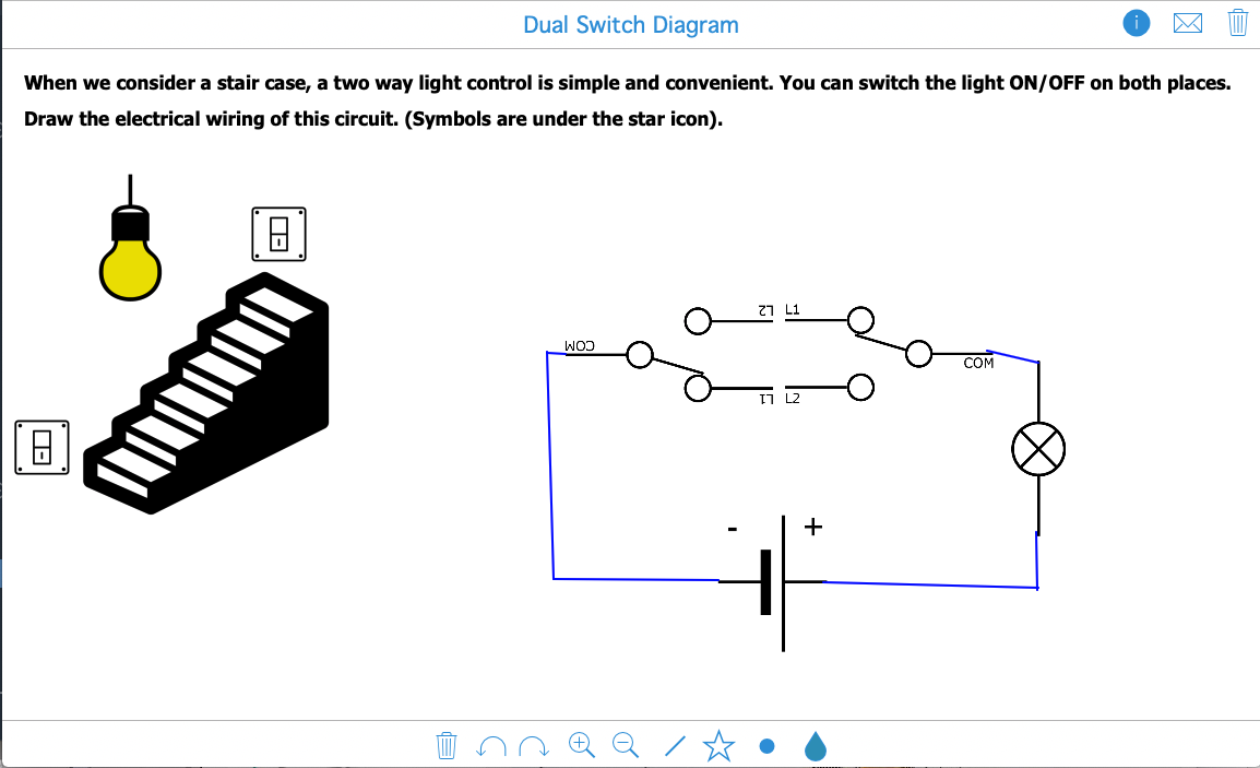 Interactive whiteboard lesson example for math teachers with BookWidgets