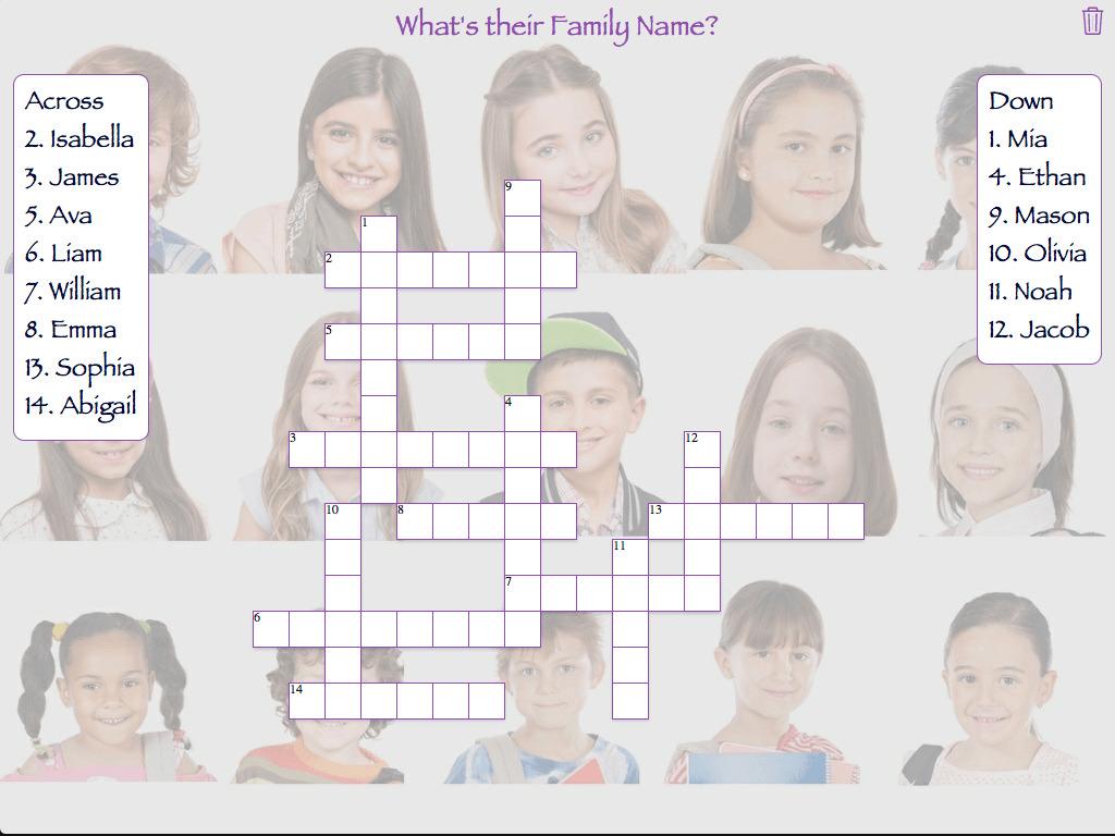 Family Names Crossword