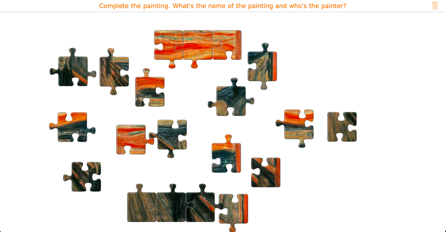 Art puzzle of The Scream