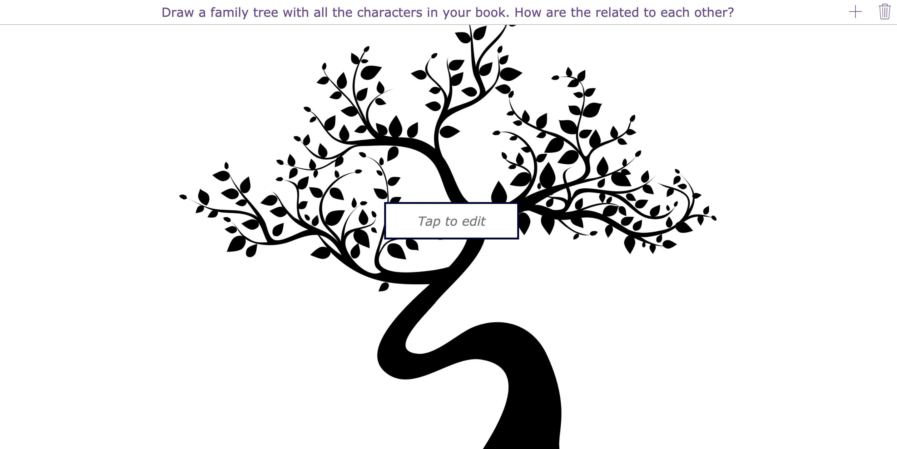 Creative book report - family tree