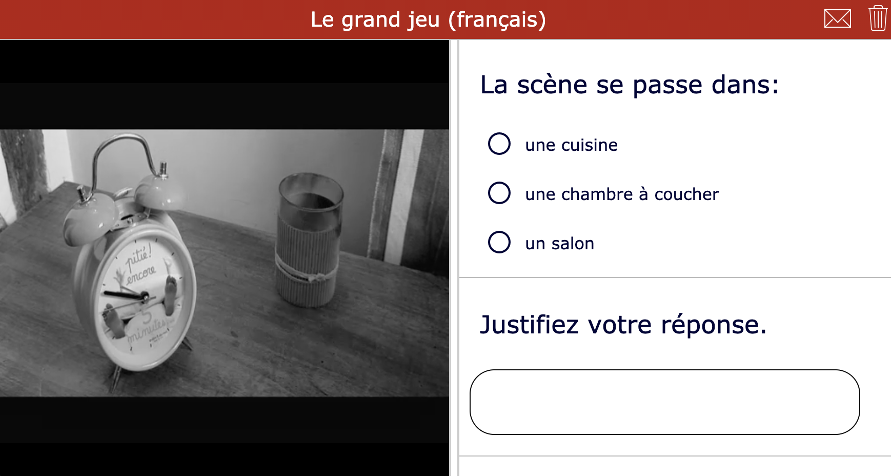 Short films - Le grand jeu - rench listening comprehension