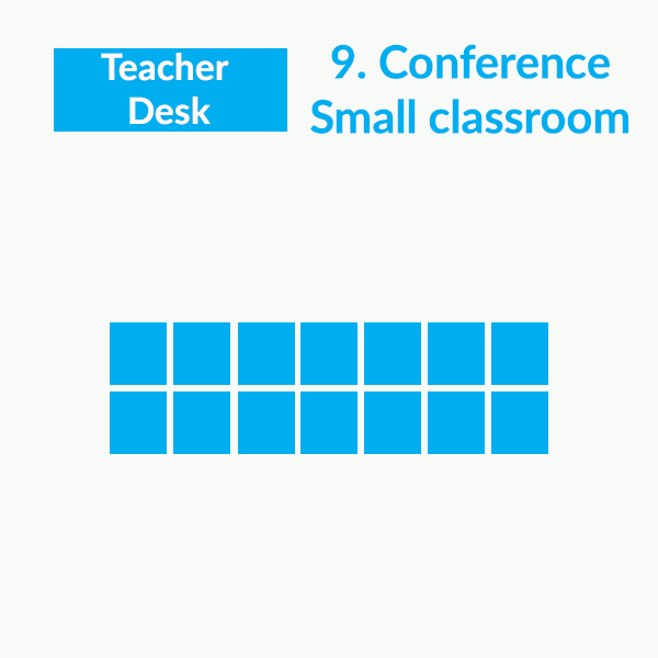 Classroom seating arrangements - Conference S