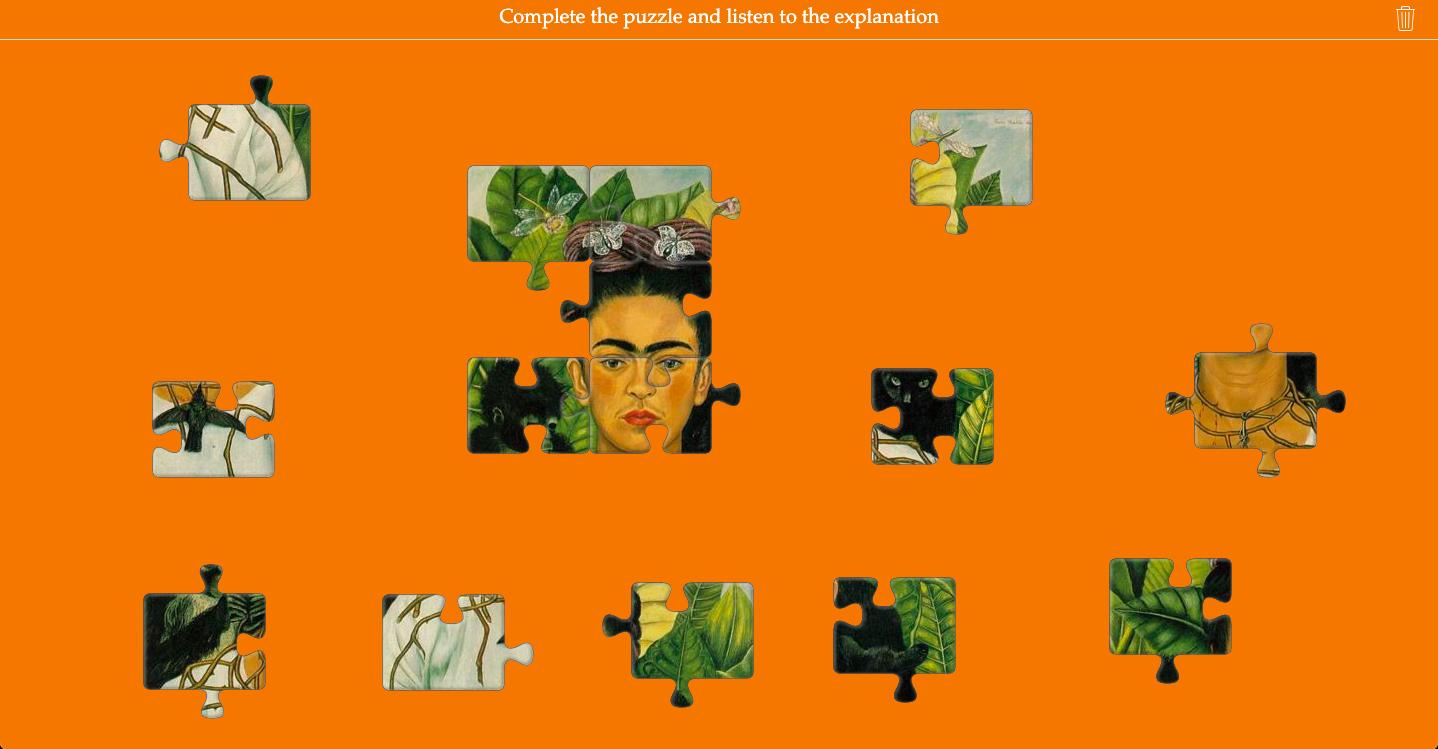 Art puzzle of Frida Kahlo