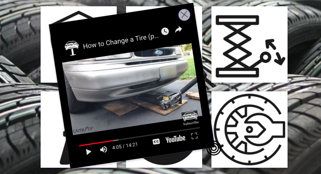 Process changing a tire - tutorial