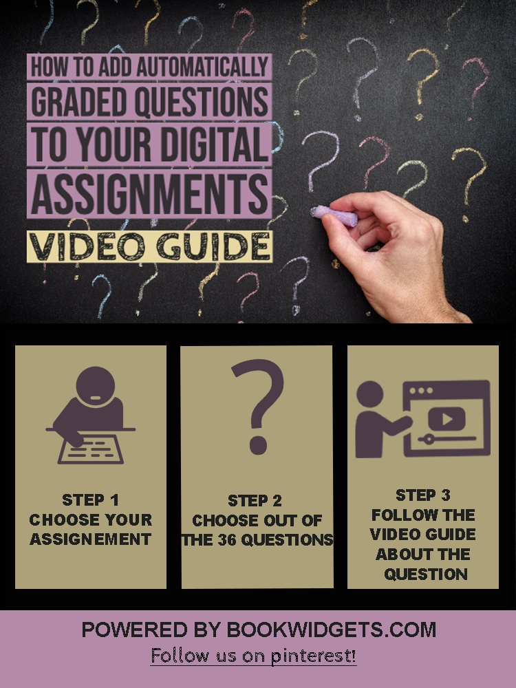 Add automatically graded questions to your digital assignments