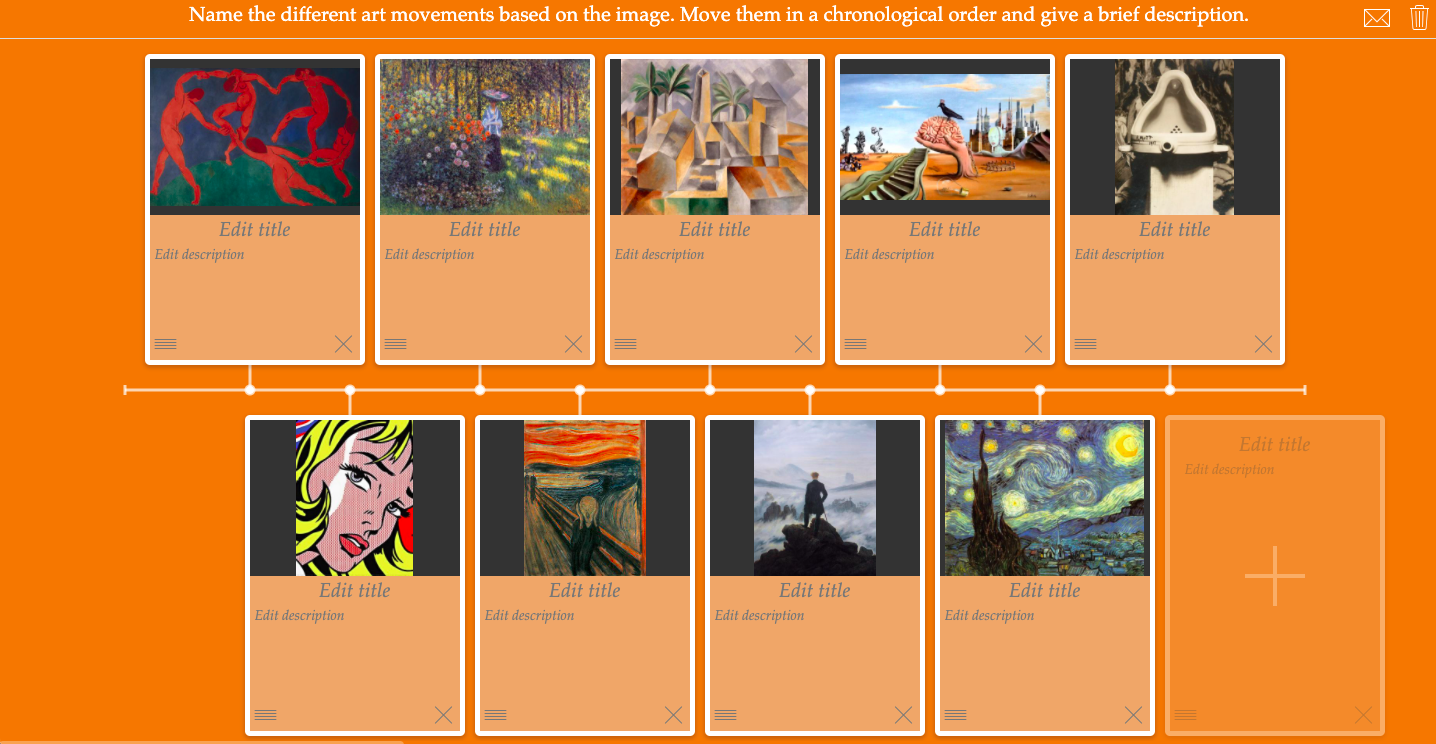 Art movements timeline practice