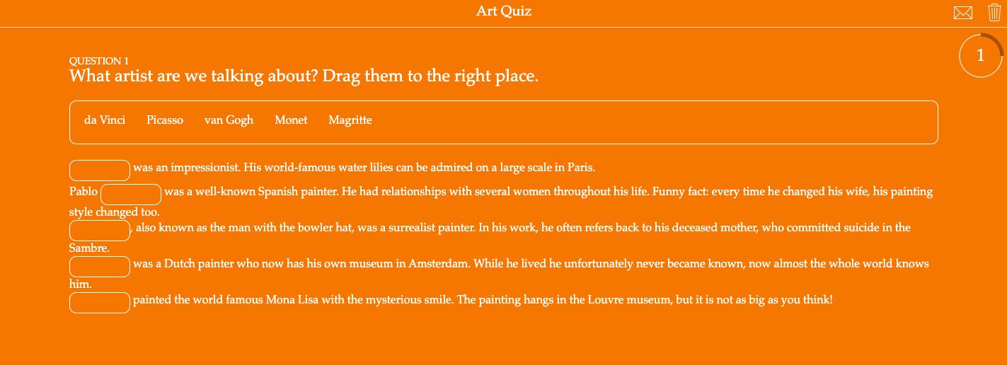 Pop quiz about art history
