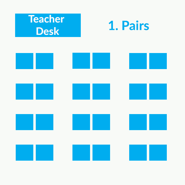 Classroom seating arrangements - Pairs