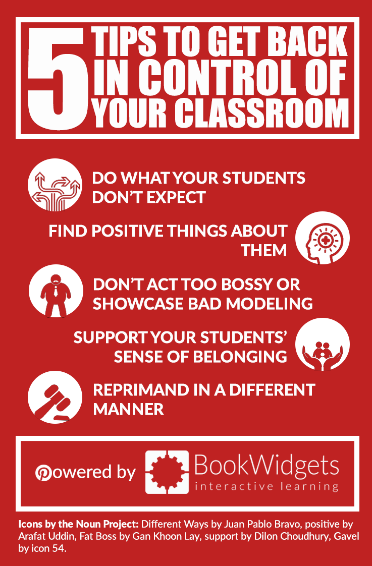 5 tips to get beack in control of your classroom