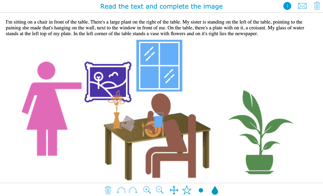 Interactive whiteboard lesson example for language teachers with BookWidgets