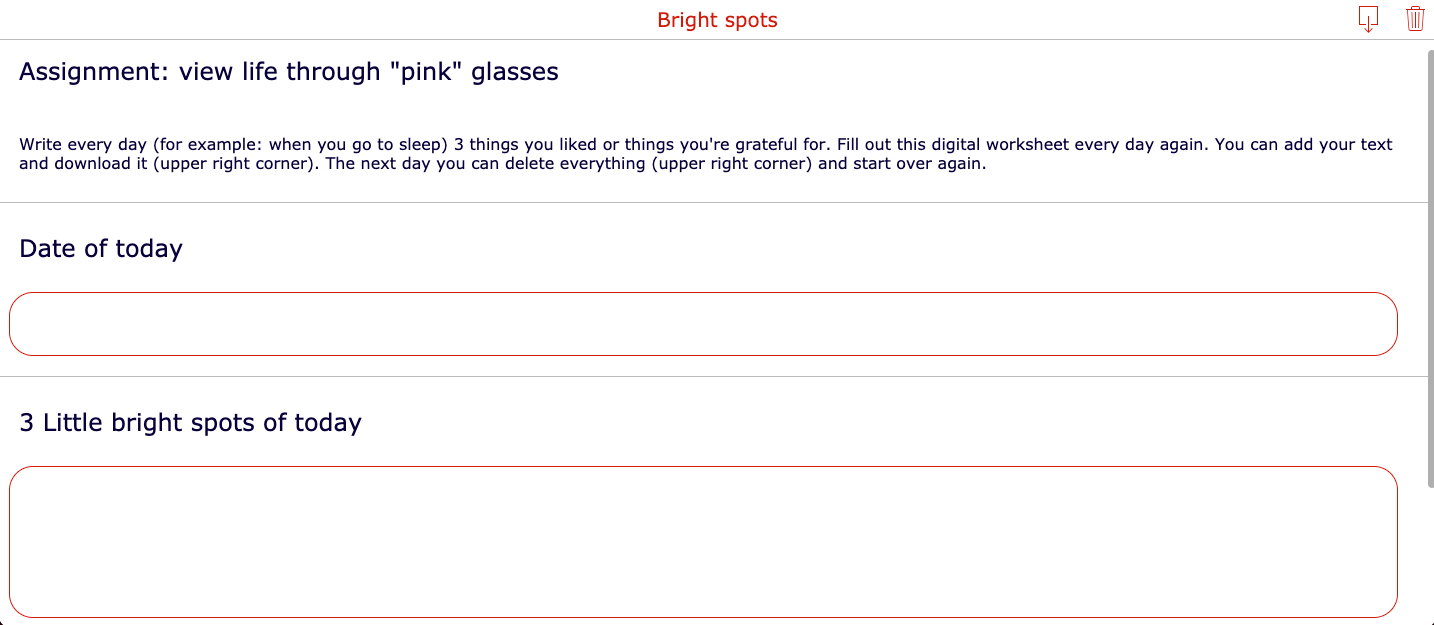 Pink glasses - Mental health assignment