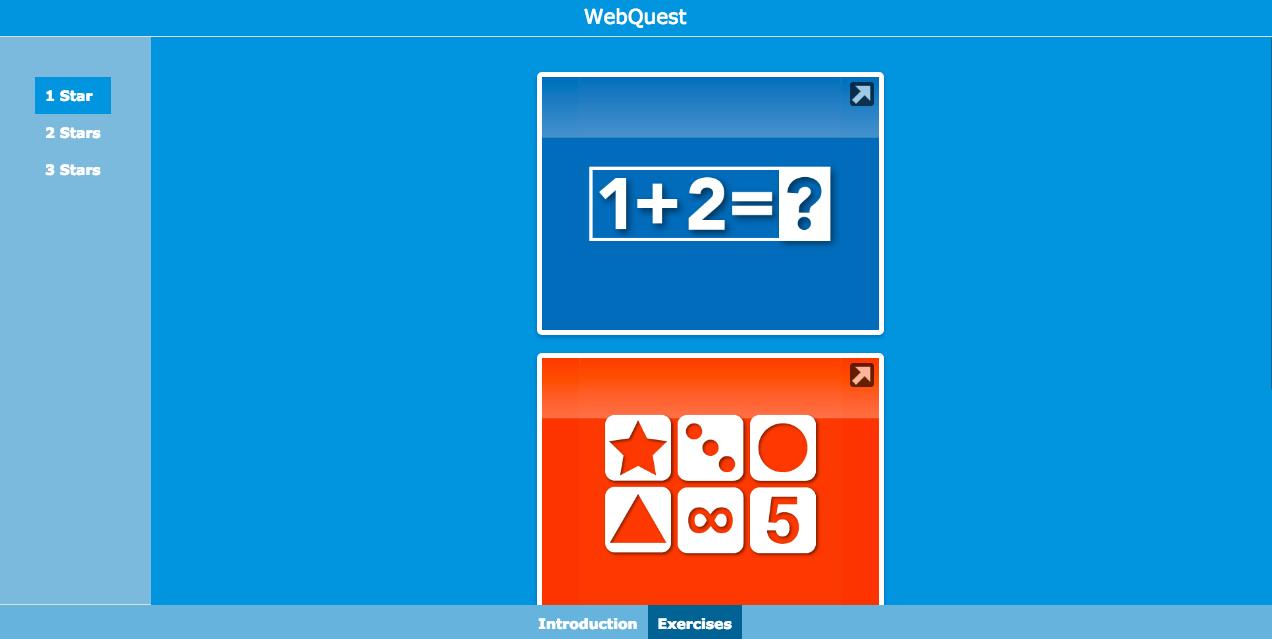 Differentiation WebQuest with BookWidgets