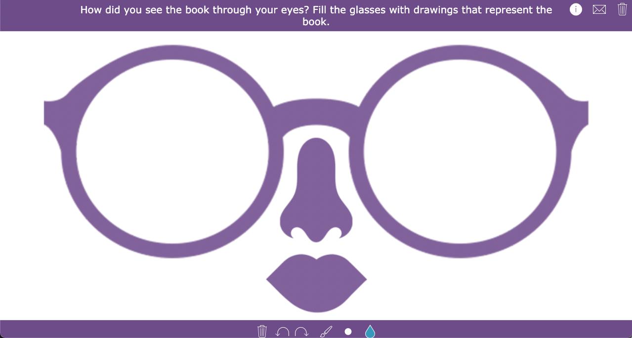 Creative book report - glasses drawing