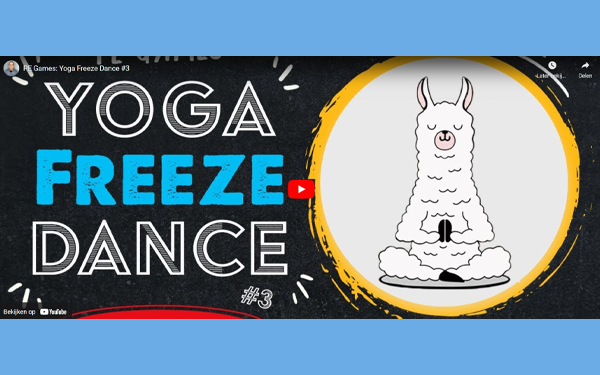 Yoga Freeze Dance - digital PE lesson