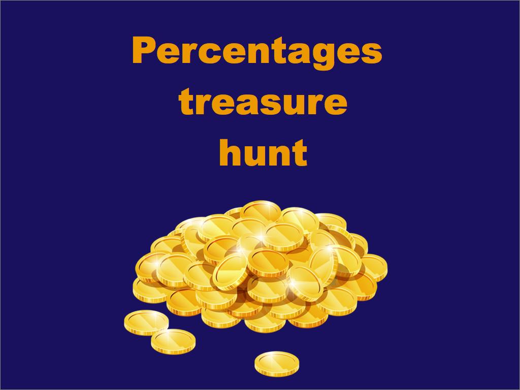 Percentages treasure hunt